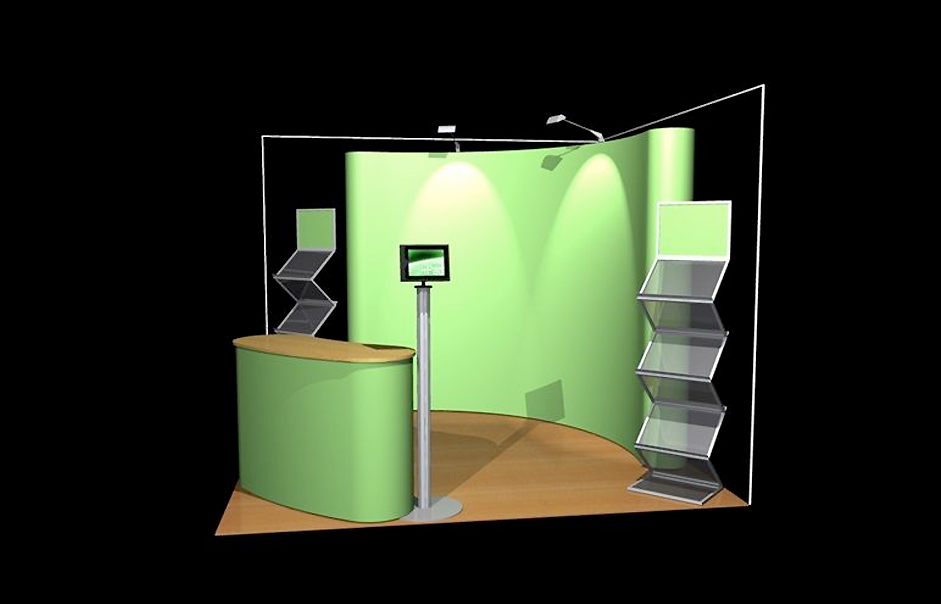 Simple Exhibition Stand Up : Pop up shell scheme exhibition and display stand designs